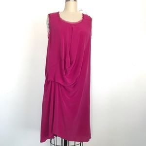 Pure DKNY M fuchsia silk dress
